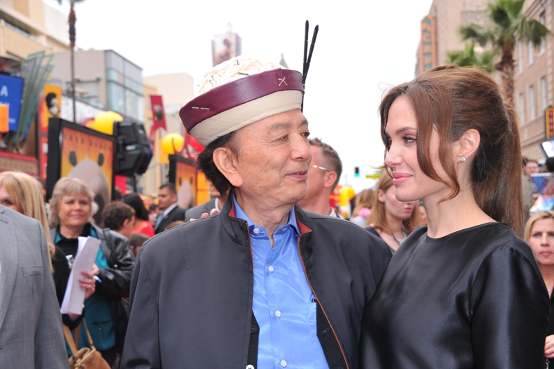 "and Angelina Jolie arrive at DreamWorks Animation's ""Kung Fu Panda ..."