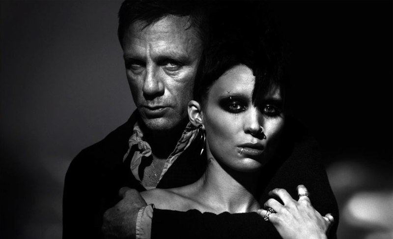 Girl with the dragon tattoo posters revelados for The girl with dragon tattoo movie