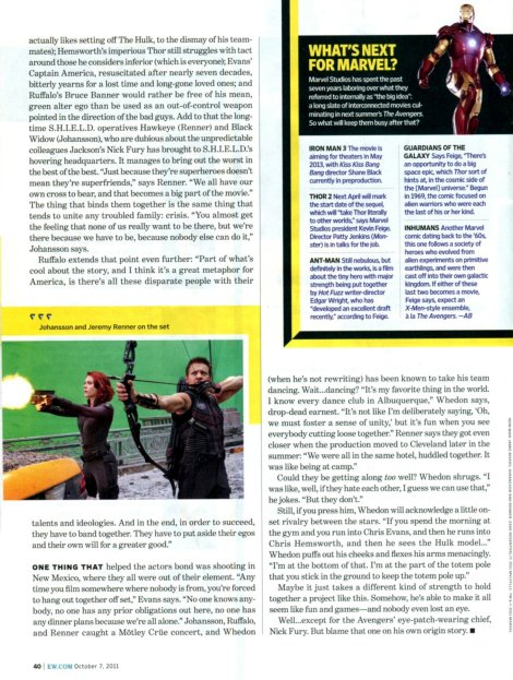 The Avengers Entertainment Weekly - 09