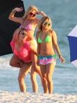 Actresses Vanessa Hudgens, Rachel Korine, and Ashley Benson film scenes in bikinis for their new movie 'Spring Breakers' in Florida