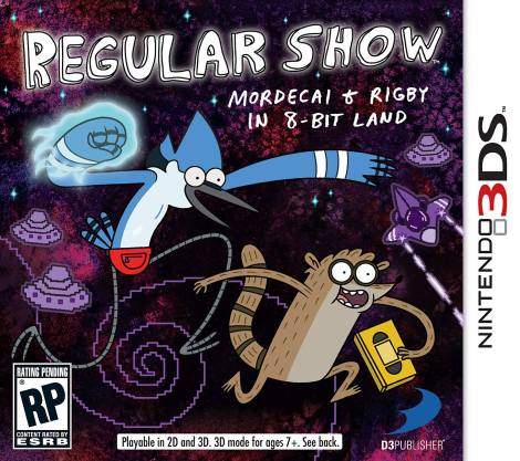 Regular Show Mordecai and Rigby in  8Bit Land 3DS