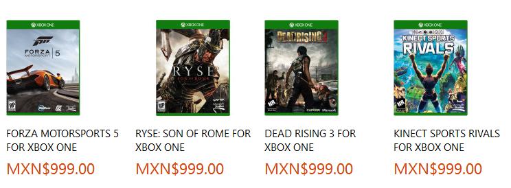 Xbox One Precios De Juegos Revelados Play Reactor