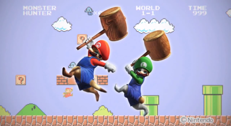 Monster-Hunter-4-Felyne-Super-Mario-Bros