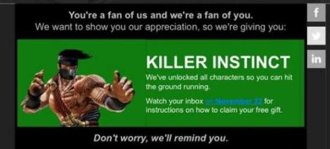 Killer Instinct freebie