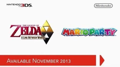 Zelda A Link Between Worlds y Mario Party Island Tour