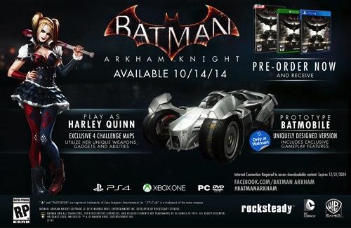 batman arkham knight playstation 4 xbox onepc