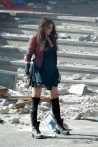 EXCLUSIVE: Elizabeth Olsen and Jeremy Renner on set of 'The Avengers: Age of Ultron'