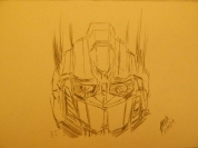Sketch Optimus Prime, por Paola German