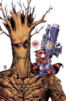 ROCKET RACCOON #5 SKOTTIE YOUNG (Escritor, Dibujante y Portada) Rocket raccoon y Groot variant por:TBA