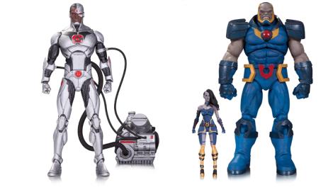 """""""Forever Evil"""" Cyborg, $45 dólares. En tiendas en septiembre 2016. Deluxe Darkseid and Grail, $100 dólares. En tiendas en octubre 2016."""