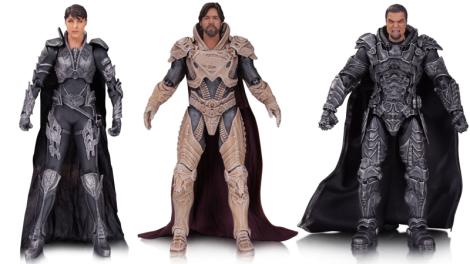 Faora, Jor-El, y Zod de Man of Steel. $45 dólares cada uno, en tiendas en septiembre 2017.