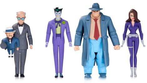 Scarface, Joker, Harvey Bullock, y Talia Al Ghul. $28 cada uno, en tiendas para septiembre 2016.