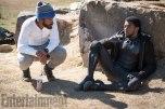 Marvel Studios' BLACK PANTHER L to R: Director Ryan Coogler and Chadwick Boseman (T'Challa/Black Panther) on set Credit: Matt Kennedy/©Marvel Studios 2018