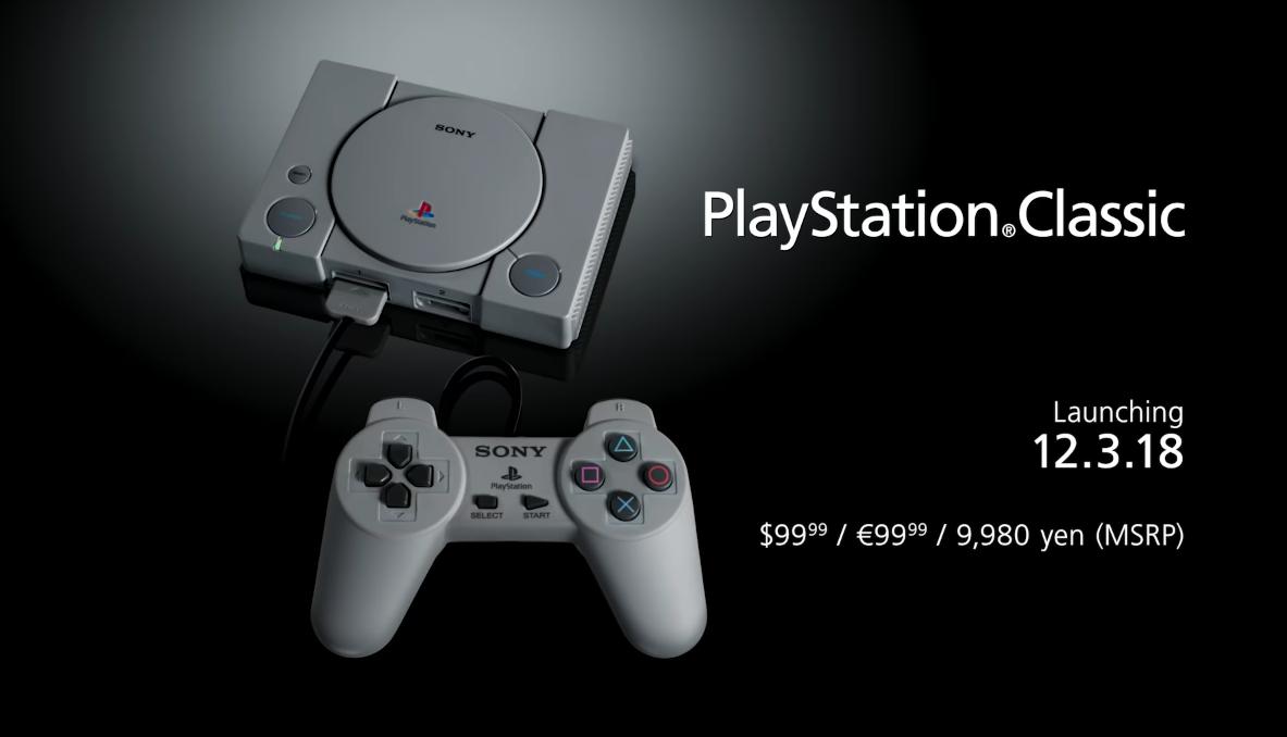 Playstation Classic | Sony revela la versión mini de la consola.
