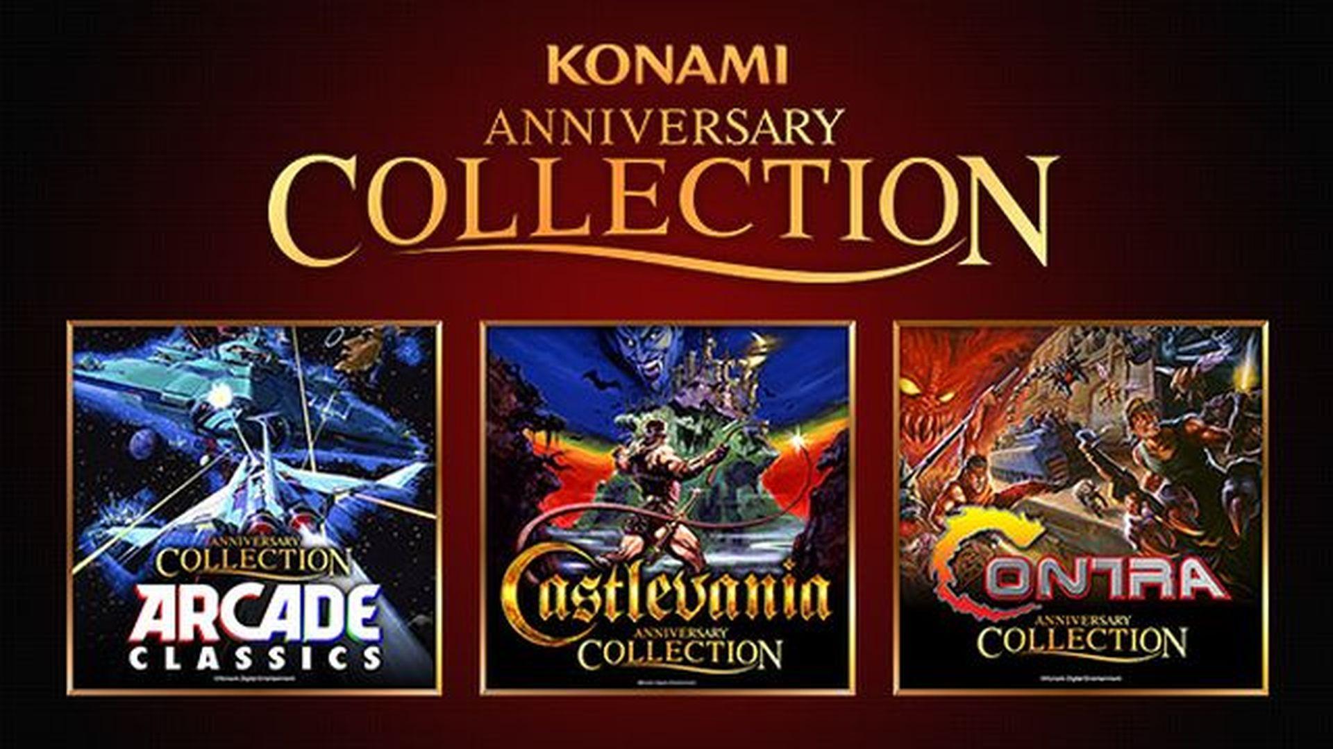Konami Anniversary Collection | Se confirman tres recopilatorios de Castlevania, Contra y clásicos de Arcade.