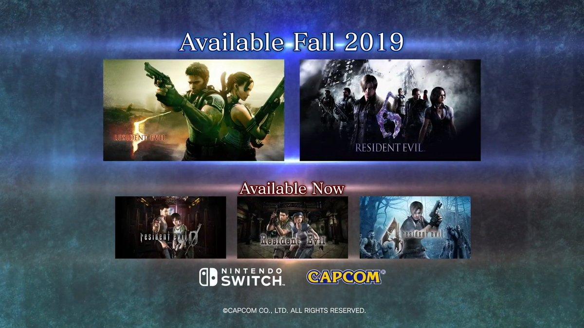 Resident Evil 5 & 6 | Los juegos llegarán a la Nintendo Switch